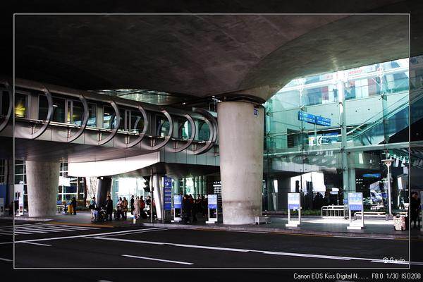 首爾機場一隅...