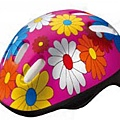 959104000 Child bike helmet girls pink with flowers