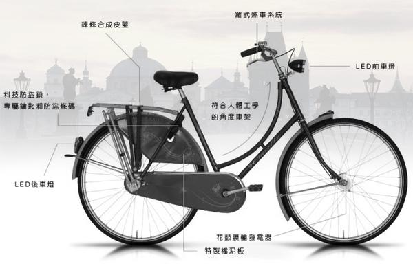 Gazelle自行車介紹圖