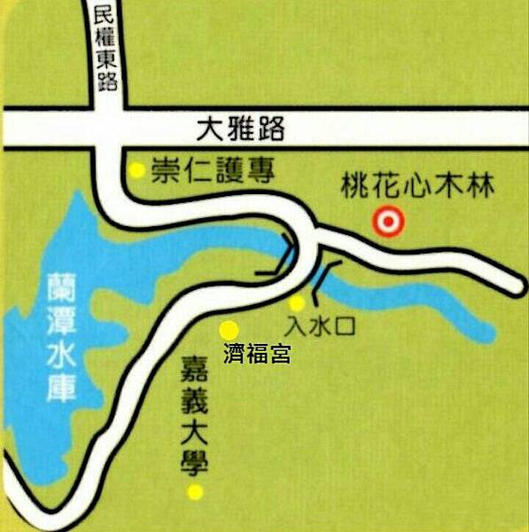 蘭潭入水口地圖
