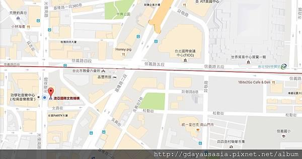 澳亞地圖中文版