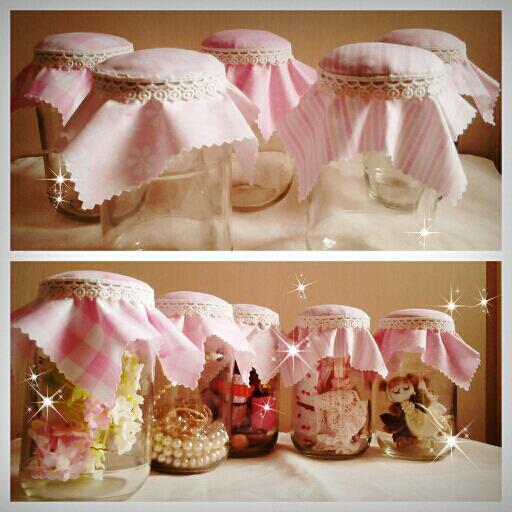 粉紅玻璃瓶蓋