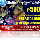 globe 500 call text internet prepaid load e-pin.png
