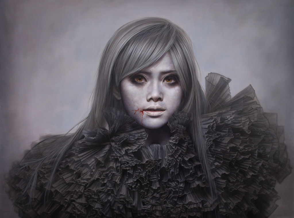白面者15-方嘟嘟:ashen face15-Aiko Fang:200F:259x 194c m:Oil on canvas:2011.jpg