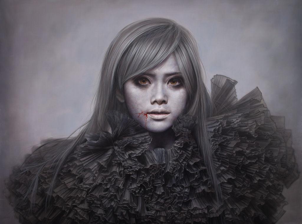 白面者15-方嘟嘟:ashen face15-Aiko Fang:200F:259x 194c m:Oil on canvas:2011.jpg