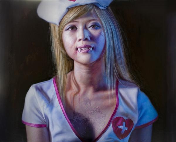 草莓族百鬼夜行3-吸血姬   162X130cm  2009