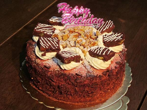 蔓越莓香橙巧克力蛋糕