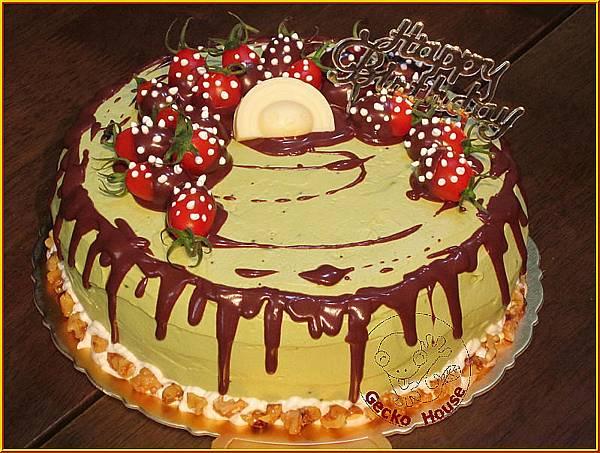 抹茶紅豆巧克力蛋糕