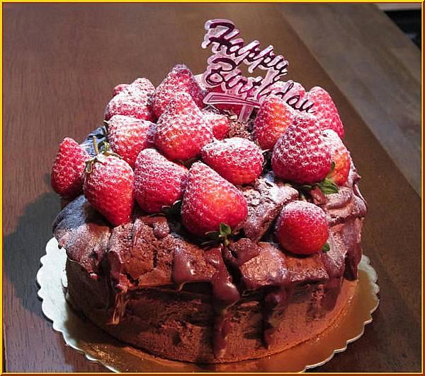 草莓山巧克力蛋糕