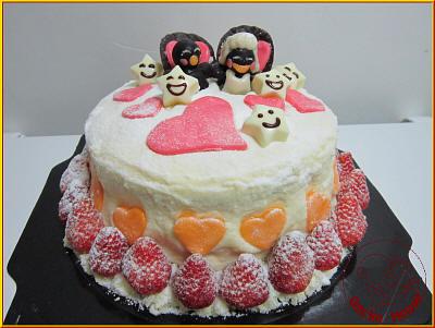 白巧克力草莓蛋糕