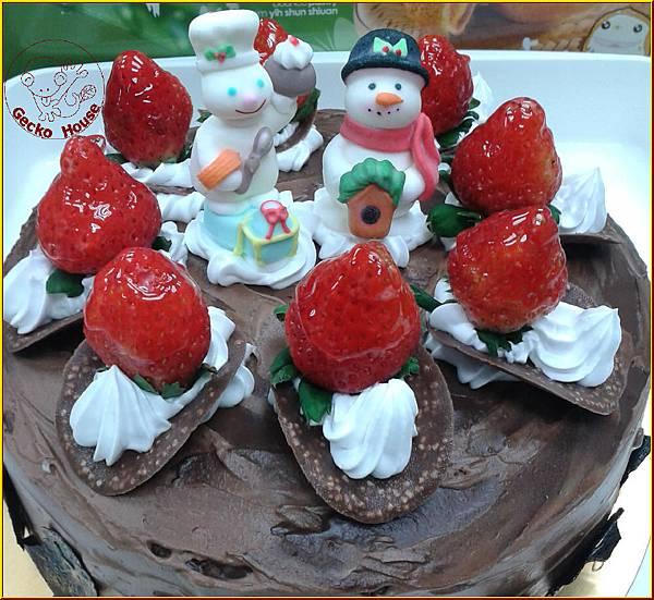 香蕉巧克力聖誕蛋糕