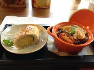 地瓜燒佐青醬蔬焗烤