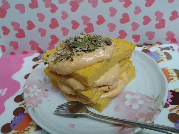 南瓜乳酪戚風三明治蛋糕