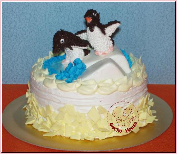 企鵝冰山檸檬蛋糕