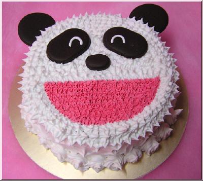 貓熊鮮奶油蛋糕