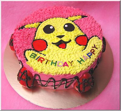 夢幻草莓皮卡丘蛋糕