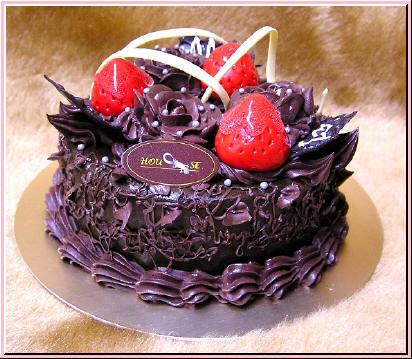 玫瑰草莓巧克力蛋糕