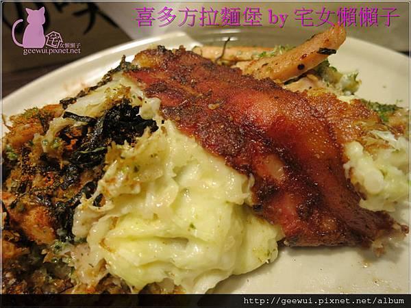 喜多方拉麵燒 拉麵堡 大阪燒 板橋誠品商圈 府中站 吃飽又吃巧 的 大份量 超飽足 平價美食 美味帶著走 國士無雙的創意料理 飲食集錦