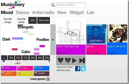 最棒的私人音樂撥放網站 - Musicovery