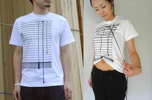 百葉窗T恤