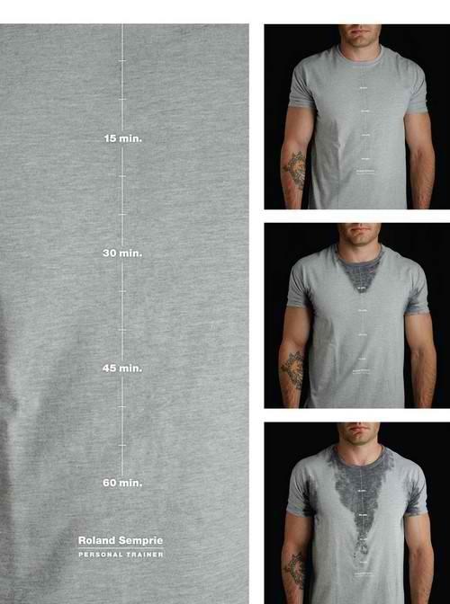 反映鍛鍊時間的T恤