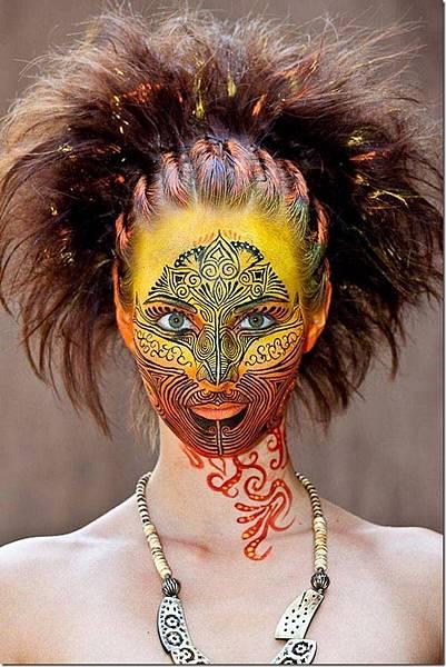 媲美萬聖節鬼妝的人體藝術-2