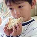 country bread and Joshua 021.JPG