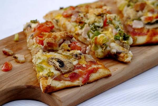 mushroom & bacon pizza 036