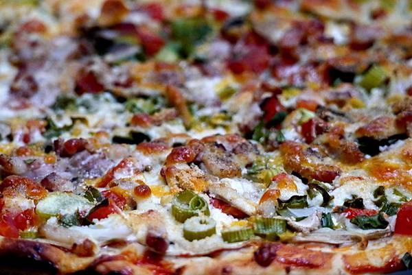 mushroom & bacon pizza 001