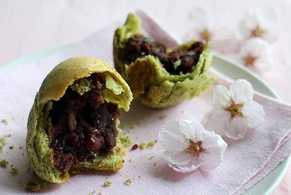 綠茶紅豆酥 140