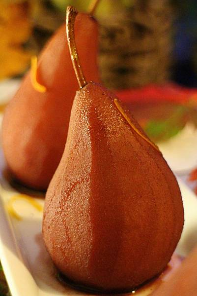 wine poached pear 298