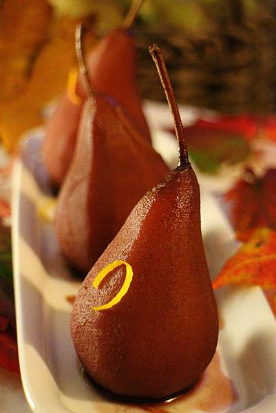 wine poached pear 301