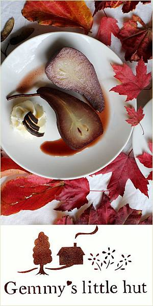wine poached pears