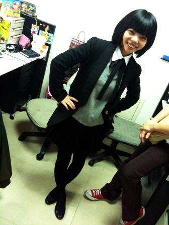 俏麗女子高中生