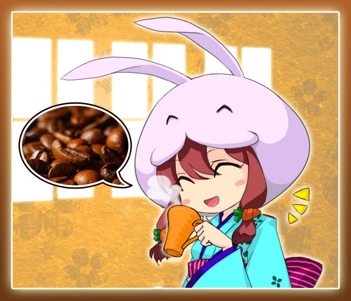 兔娘喝咖啡