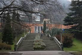階梯中央分隔欄杆