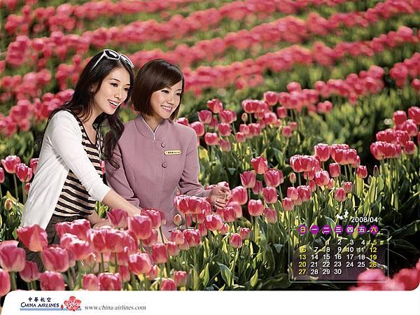 2008中華航空空姐.林志玲月歷 (4).jpg