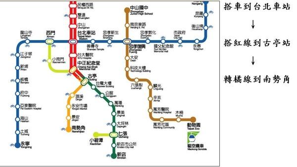 搭捷運.JPG