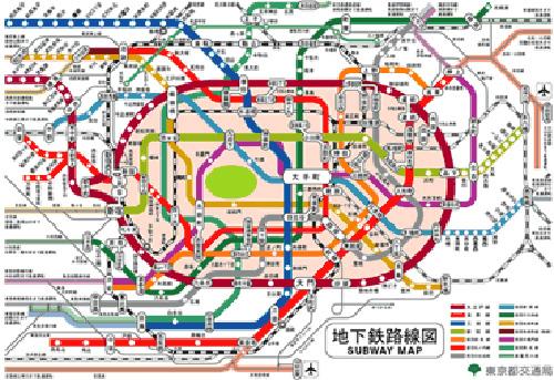 電車路線圖夠複雜吧