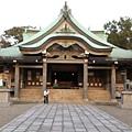 大阪城旁邊的神社