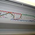 不太複雜的地鐵(比大阪簡單很多)