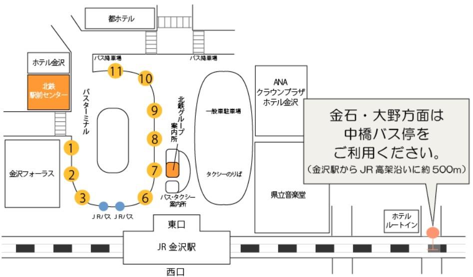金沢駅東口のりば