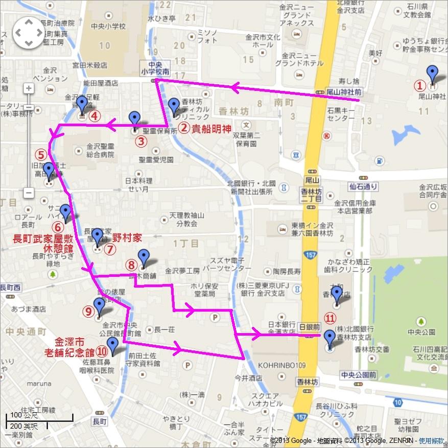 長町武家屋敷跡Map