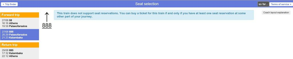 round trip ticket seat selection