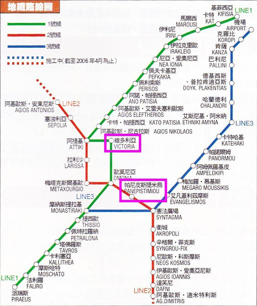 Victoria站→Panepistimiou站