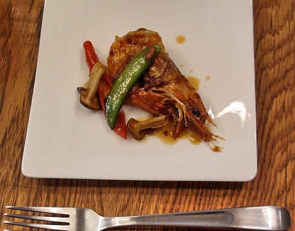 味道豐富又鮮美的XO醬干燒海蝦試吃