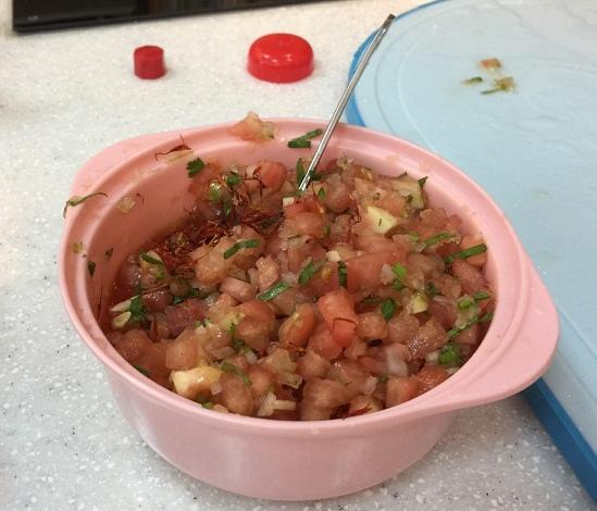夏季蔬菜冷麵番紅花風味沙拉