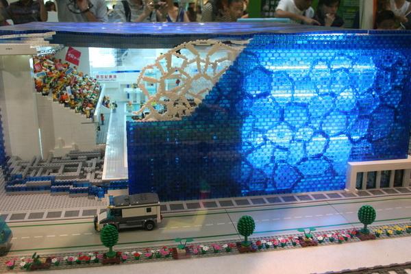 2008.8.9 奧運lego@新世紀廣場 - 水立方