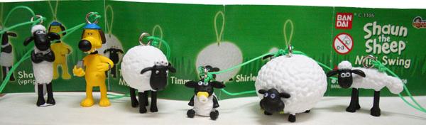 一整套shaun the sheep mini swing