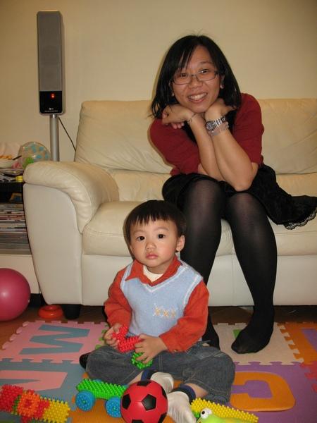 2009.2.6 GEO 聚會: 弘毅 (~2歲1 個月)